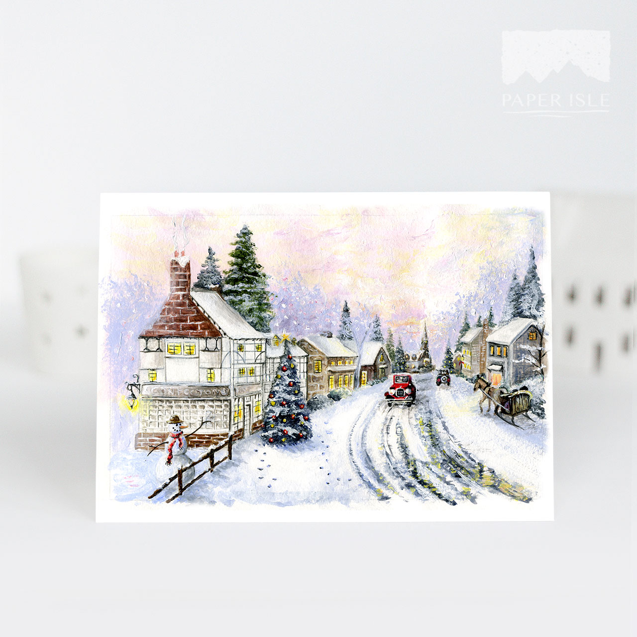 Christmas-Village-Painted